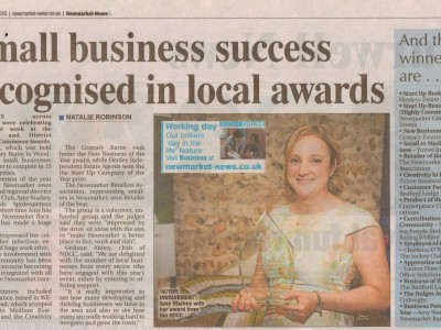 Small business success recognised in local awards